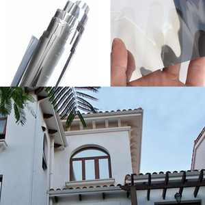 One Way Window Film, Anti UV Static Cling Window Film Light Blocking For Privacy Removal Decorate Heat Control Glass Tint Home Office Windows