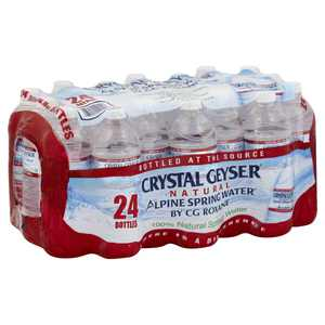 Crystal Geyser Alpine Natural Spring Water Bottles, 16.9 FL Oz, 24 Ct