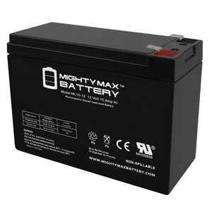 12V 10AH SLA Battery for Peak 750 Amp Jump-Starter w/Inflator