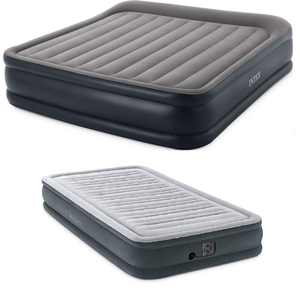 Intex King Deluxe Pillow Air Mattress & Dura Beam Plus Twin Airbed