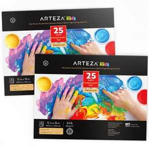 """Arteza Finger Paint Paper Pad, 12""""x16"""", 25 Sheets - 2 Pack (ARTZ-2893)"""
