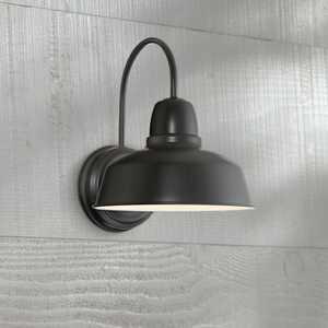 "John Timberland Rustic Outdoor Light Fixture Urban Barn Farmhouse Black 13"" for Exterior House Porch Patio"