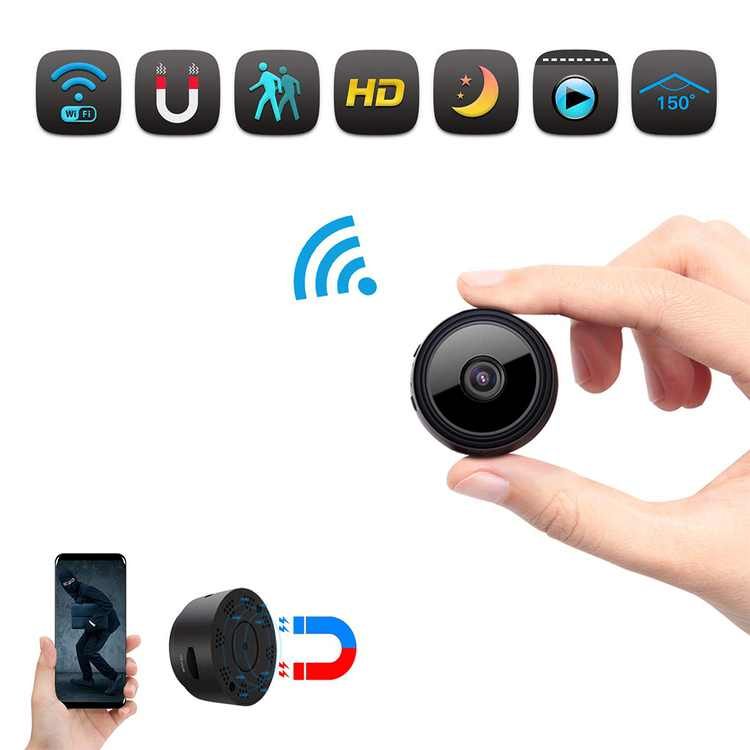 Juslike WiFi Surveillance Camera Battery Powered -1080P HD Outdoor Wireless Security Built-in Strong Magnet Camera with Motion Detection Remote Access & 5m Night Vision