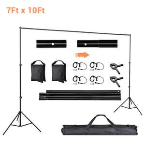 Yescom 10'x7' Background Support Stand Photo Video Shooting Backdrop System Kit with Carrying Case Wedding Event