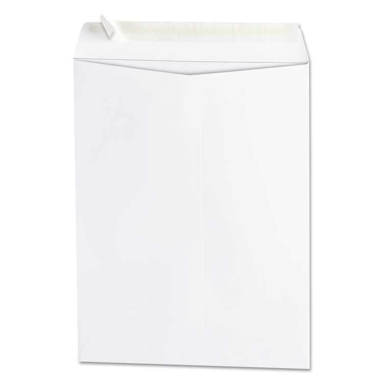 Universal Peel Seal Strip Catalog Envelope, #10 1/2, Cheese Blade Flap, Self-Adhesive Closure, 9 x 12, White, 100/Box -UNV40100