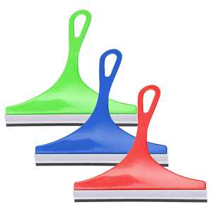 3pcs Window Shower Rubber Squeegees, EEEkit Car Glass Squeegee Cleaner, Rustproof Portable Hand Held Wiper Cleaning Tools with Hanging Hole for Shower Doors, Bathroom, Kitchen, Window, Glass