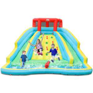 Gymax Inflatable Mighty Water Slide Park Bounce Splash Pool Patio