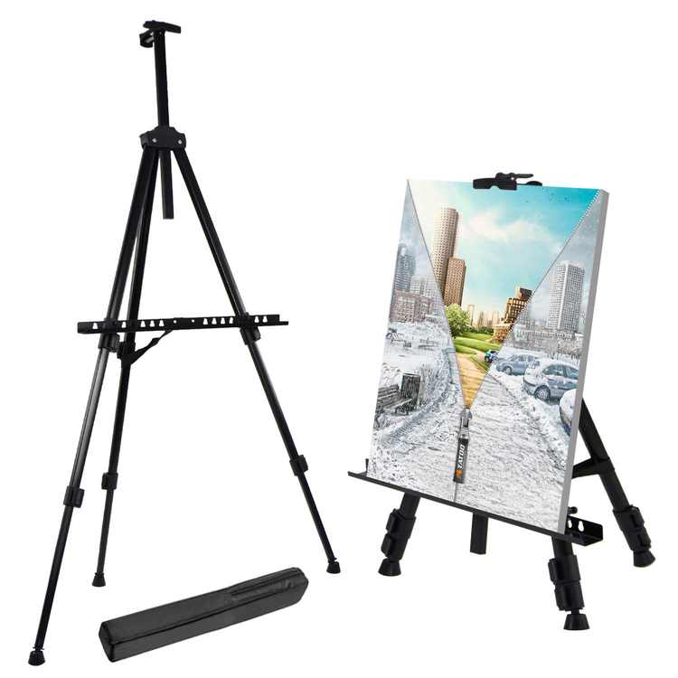 """Zimtown Art Easel Stand, 20""""-63"""" Adjustable Painting Floor Display Easel, with Carry Bag"""