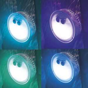 Intex PureSpa Battery Powered Multi-Colored LED Light for Bubble Spa Hot Tub