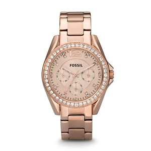 Fossil Women's Riley Multifunction Rose Gold Stainless Steel Watch (Style: ES2811)