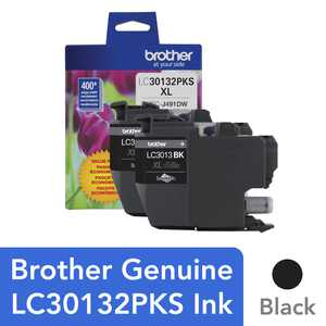Brother Genuine LC30132PKS 2-Pack High-yield Black Ink Cartridges