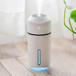 MIni USB Humidifier with Night Lights Small Humidifier for Bed Office Desk Travel LED Mist Air Humidifier and Purifier for Car Bedroom Home Mini USB Air Humidifier