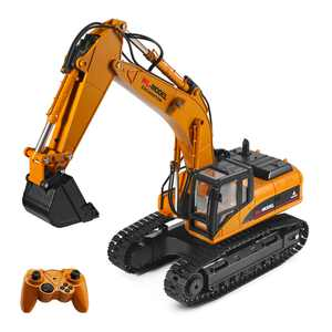 WLtoys XKS 16800 1:16 RC Excavator 2.4G Electric Truck Toy RC Construction Tractor with Light Sound Non-Toxic Smoke for Adult Kids