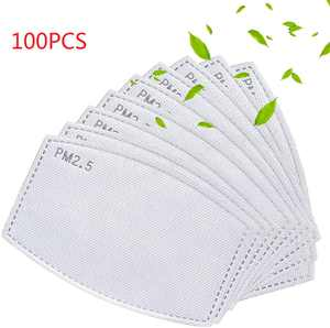 100Pcs PM2.5 Activated Carbon Replacement Filter Face Mask Filter  Breathing Insert Protective Mouth