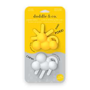 Doddle and Co, The Chew Teether, Hello Sunshine + Looks Like Rain, Ages 3+ months