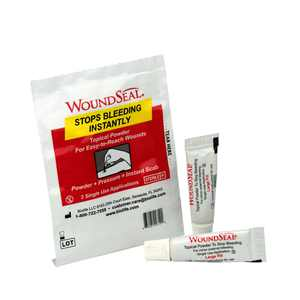 Pac-Kit by First Aid Only 90326 2 Piece WoundSeal Blood Clot Powder Pour Pack By PacKit