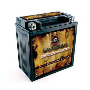 Pirate Battery YTX20CH-BS (20CH-BS 12 Volt,18 Ah, 270 CCA) High Performance - Maintenance Free - Sealed AGM Motorcycle Battery