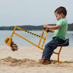 The Big Dig Sandbox Digger Toy Excavator with 360 Rotation, Great for Sand, Dirt and Snow, Steel Outdoor Play Toy