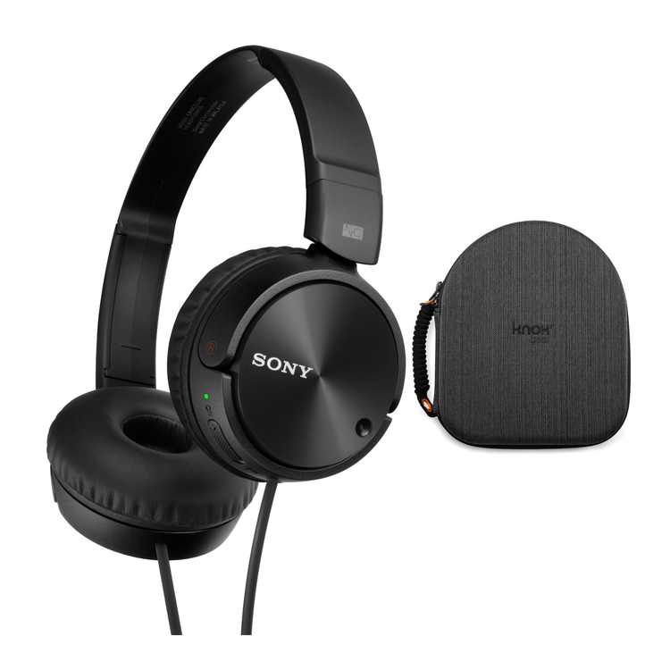 Sony MDRZX110NC Noise Cancelling Headphones with Knox Gear EVA Headphone Case