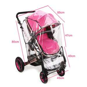 Universal Stroller Rain Cover Weather Shield, Clear