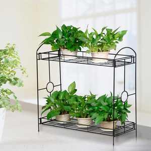 Yaheetech 2 Tier Plant Stand Holder Display Flower Shelf Garden Indoor Outdoor