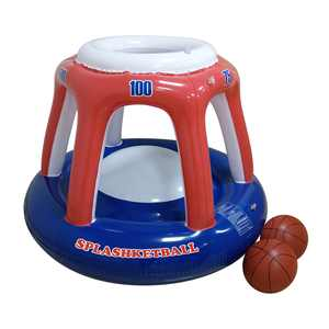 RhinoMaster Play Blow Up Splashketball for Swimming Pools - Fun, Inflatable Basketball Toy Hoop and Balls