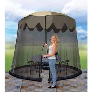 Jobar Ideaworks JB5678 Outdoor 9 Foot Umbrella Table Screen Black