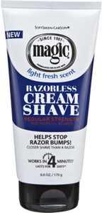 Magic Shave Razorless Cream Shave, Light Fresh Scent, Regular Strength 6 oz (Pack of 6)
