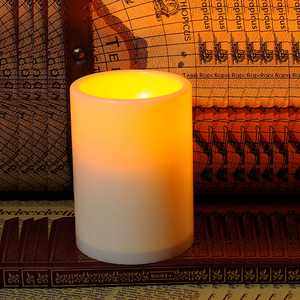 Indoor/Outdoor Flameless Resin Pillar LED Candle with 4 & 8 Hour Timer for Home Party Wedding Christmas Decrotion