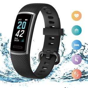 JUMPER Fitness Tracker, Activity Health Tracker Waterproof Smart Watch Wristband w/ Heart Rate Sleep Monitor Pedometer Step Calorie Counter for Android and iPhone, Black