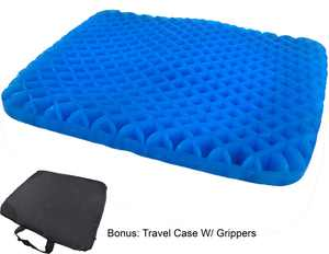 Egg Honeycomb Gel Seat Cushion - Ergonomic & Orthopedic Cooling Pressure Absorbing Flexible Back Support - Office Chair Cushion With Non-Slip Breathable