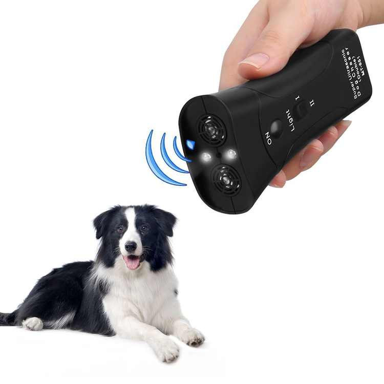 Ultrasonic Dog Repeller, Electronic Anti Barking Stop Bark Handheld 3 in 1 Pet Dog Trainer with LED Flashlight, Dog Training Device for Your Safety - Dog Deterrent/Training Tool/Stop Barking