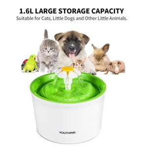 Lv. life Automatic circulation filter pet water dispenser has strong filtration of hair.,Automatic Electric 1.6L Pet Water Dog Cat Drinking Bowl Dish US