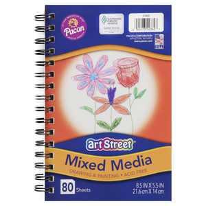 Art Street Mixed Media Journal, 8.5''x5.5'', 80 Sheets