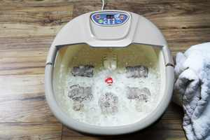 Artnaturals Foot Spa Massager Therapeutic Heated Bubble Bath with Temperature Control