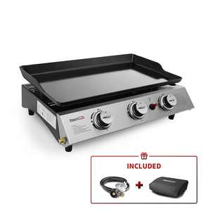 Royal Gourmet PD1300 BBQ Propane Gas Grill Griddle 3-Burner Tabletop Barbecue Camping