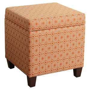HomePop Storage Cube Ottoman, Orange