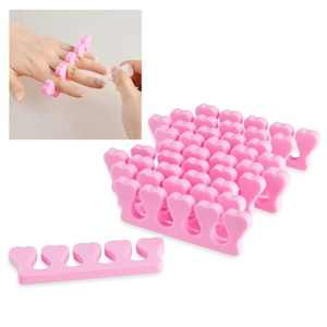 Zodaca 10x Pink Soft Sponge Foam Finger Toe Separator Nail Art Salon Pedicure Manicure Tool