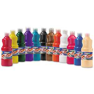 Prang Ready-to-Use Tempera Paint, 12 Assorted Colors, 16 oz, 12/Pack