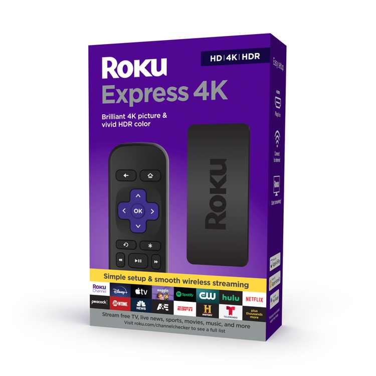 Roku Express 4K Streaming Player 4K/HD/HDR with Smooth Wi-Fi, Premium HDMI Cable   2021