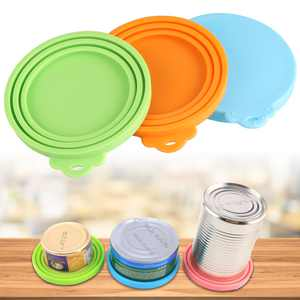 3PCS Pet Food Can Lids, TSV Universal BPA Free Silicone Can Lids Covers for Dog and Cat Food, One Can Cap Fit Most Standard Size Canned Dog Cat Food
