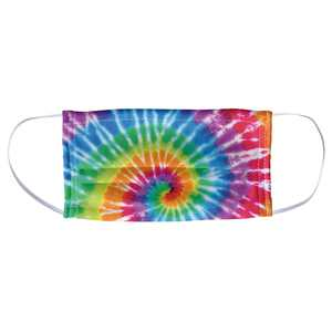 Tie Dye Spiral 1-Ply Reusable Face Mask Covering, Unisex