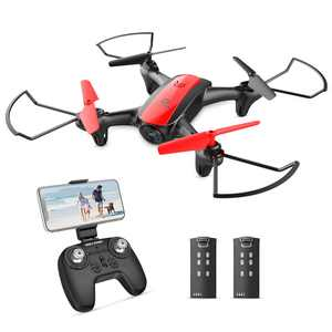 Holy Stone HS370 Mini RC Drone with Camera and Video for Kids and Beginners 720P HD FPV WiFi Transmission Quadcopter drone for Adults Altitude Hold One Key Start/Land, Draw Path, 3D Flips 2 Batteries