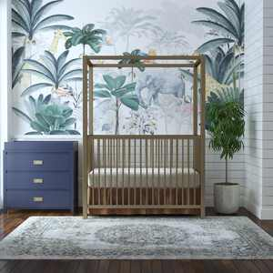 Little Seeds Monarch Hill Haven Gold Metal Canopy Crib