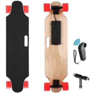 "250W 20km/h Electric Skateboard, 35""  Longboard Skateboard 7-ply Rock Hard Maple with Wireless Remote Control, 24V 2200mah Lithium Battery"