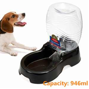946ml Capacity Automatic Pet Feeder Dispenser Water Self Feeding Bottle Bowl for Small Cat Dog Rabbit
