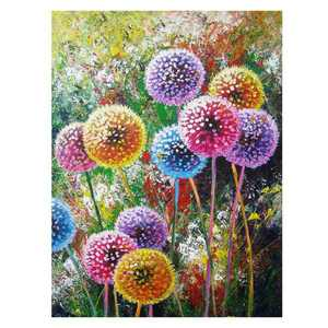 "KABOER DIY 5D  Full Drill Dandelion 5D DIY Diamond Painting Cross Stitch Round Diamond Dotz Embroidery Rhinestones Mosaic Art Craft Kits Home Wall Picture Decoration 16"" X 12"""