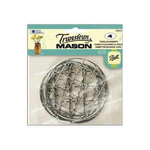Ball Metal Mason Jar Frog Lid Insert, 4 Pack