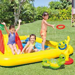 "Intex Ocean Inflatable Play Center with Water Sprayer, 100"" x 77"" x 31"""