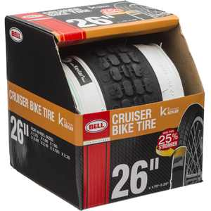 "Bell Sports Cruiser Glide Whitewall Bike Tire with Kevlar, 26"" x 1.75-2.25"""